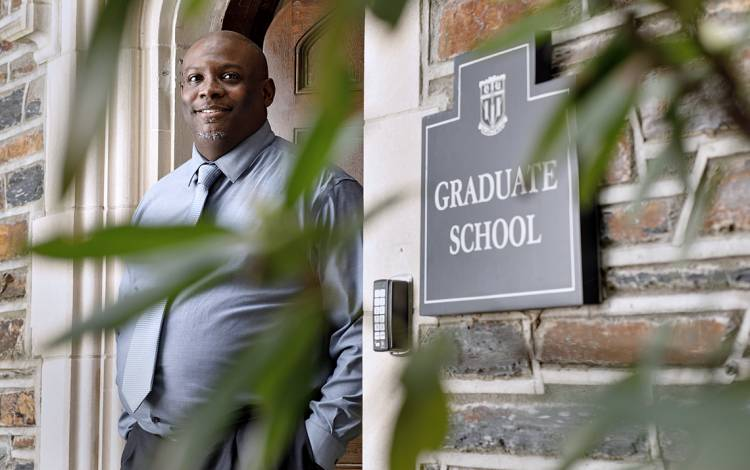 J. Alan Kendrick, the assistant dean for graduate student development at the Duke Graduate School, learned the importance of building a strong network. Photo by Alex Boerner.