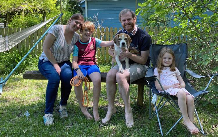 Bryan Koen and his family welcome nine-year old beagle Kramer to the household. Photo courtesy of Bryan Koen.