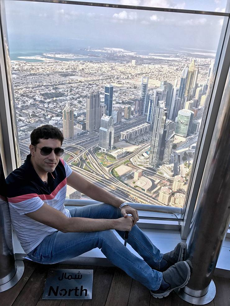 Muhammad Butt enjoys a view of downtown Kuwait City in 2017. Photo courtesy of Muhammad Butt.