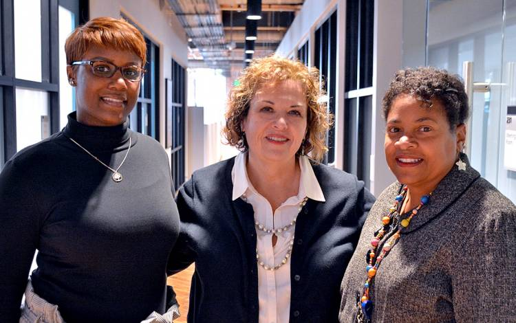 (Left to right) LaShaunda Freeman, Tracey Madrid and Renee Vaughan.(Left to right) LaShaunda Freeman with mentors Tracey Madrid and Renee Vaughan.