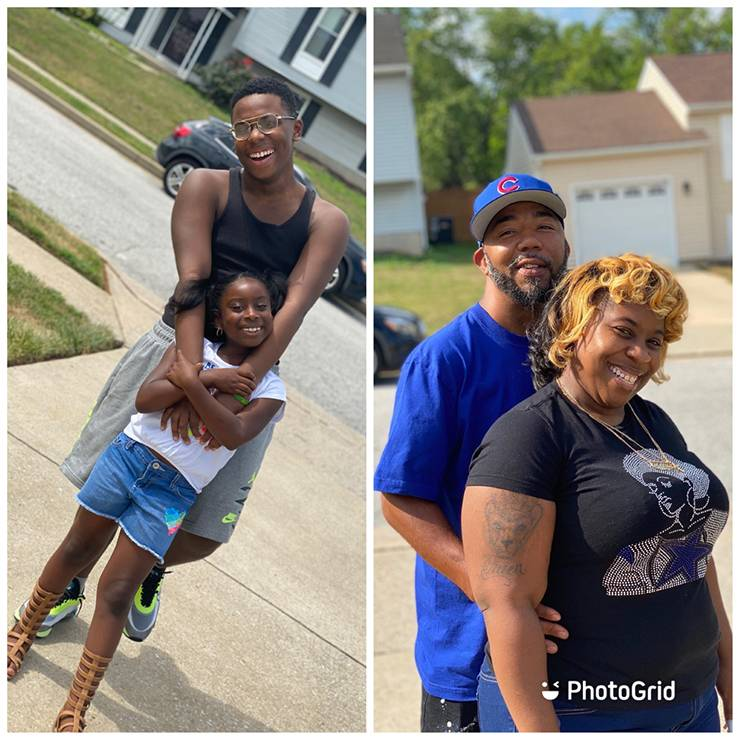 LaSheena Carter's children, left, and fiancé, right, have helped her through a recent period of transition. Photos courtesy of LaSheena Carter.