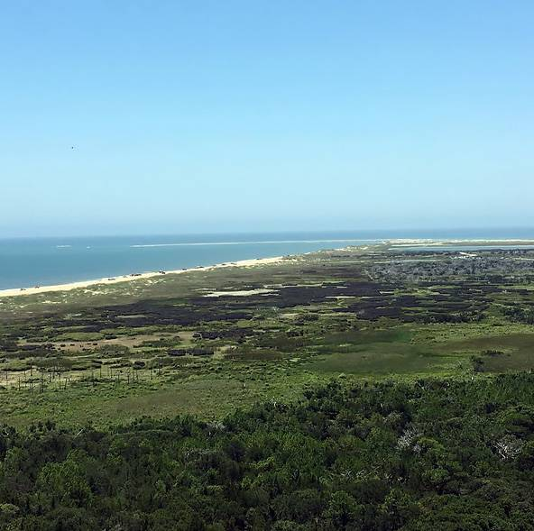 View from the top of Cape Hatteras Lighthouse