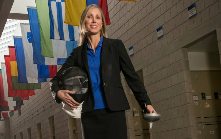Leslie Marx was a standout fencer at Duke. Now, as a member of the faculty of the Fuqua School of Business, she's an expert on the strategic decisions made by companies.