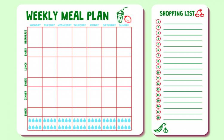 Make a grocery list before going to the store.