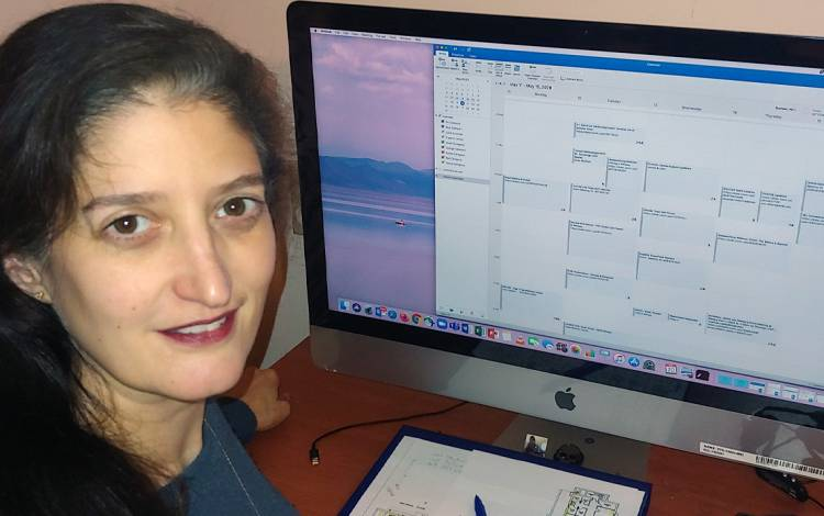 Melissa Neeley addended Learn IT @ Lunch sessions in the fall on surveys, working securely from home and web accessibility. Photo courtesy of Melissa Neeley.
