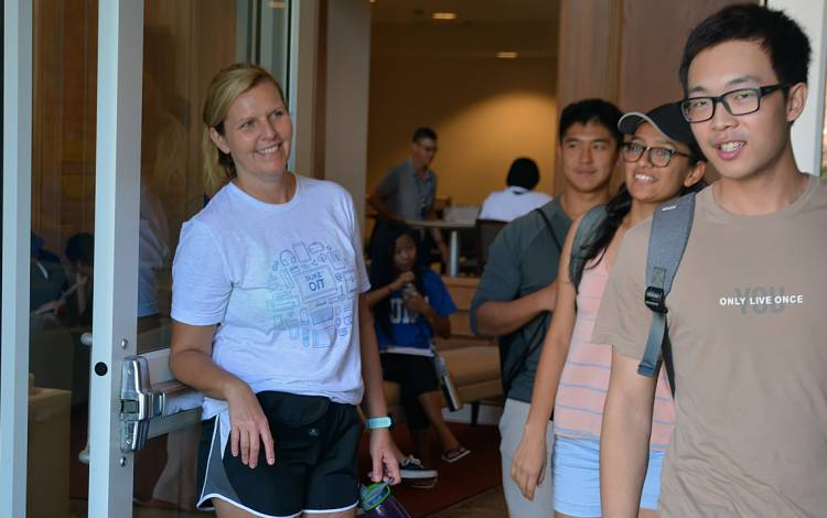 Brenda Ratliff, assistant director of IT, stood by the doors of East Campus Union, welcoming students for a few hours Tuesday morning.