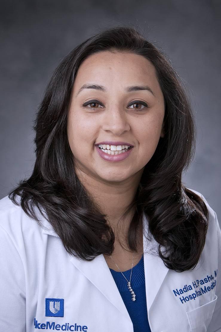 Nadia Pasha, associate medical director of Duke Raleigh Hospital's Medicine department. Photo courtesy of Nadia Pasha.