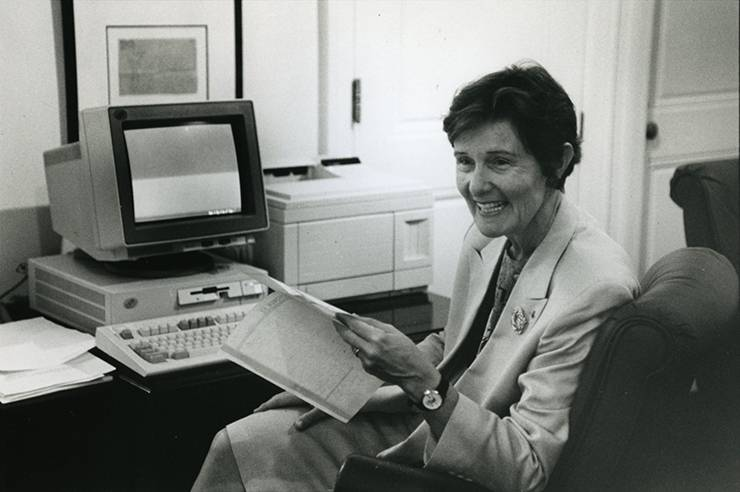 Nannerl Keohane was the first woman to serve as Duke University President. Photo courtesy of Duke University Archives.