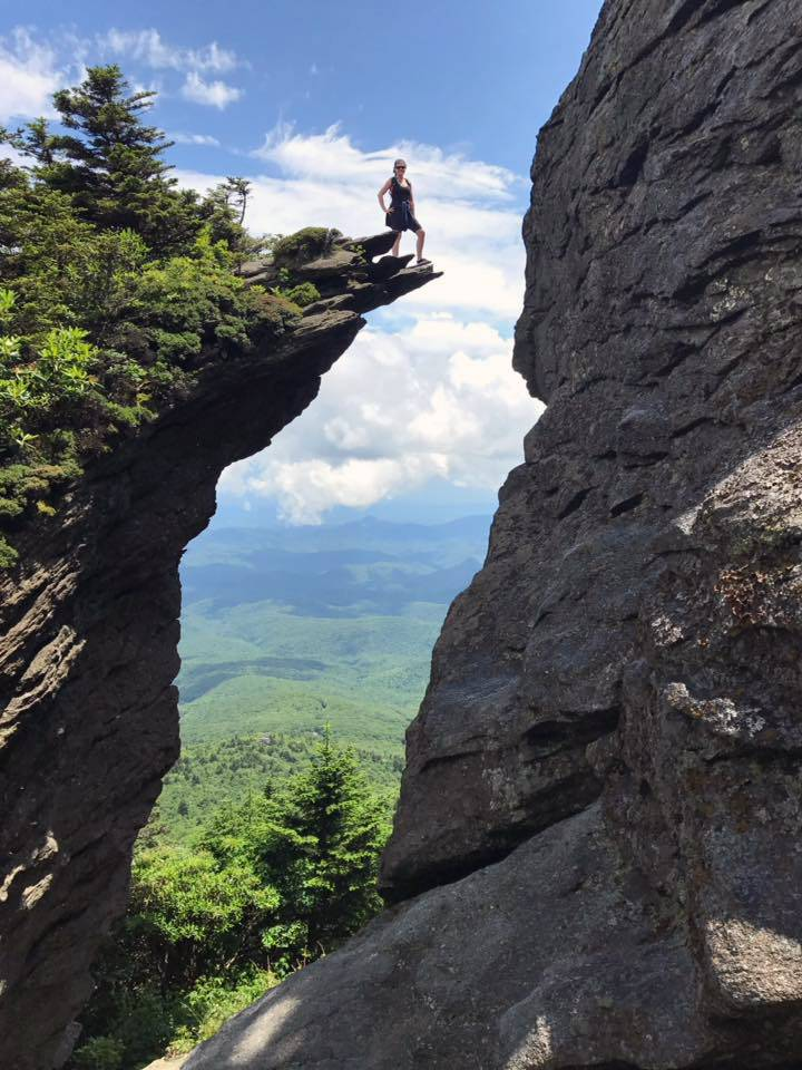 Natalie Jory King on Grandfather Mountain.