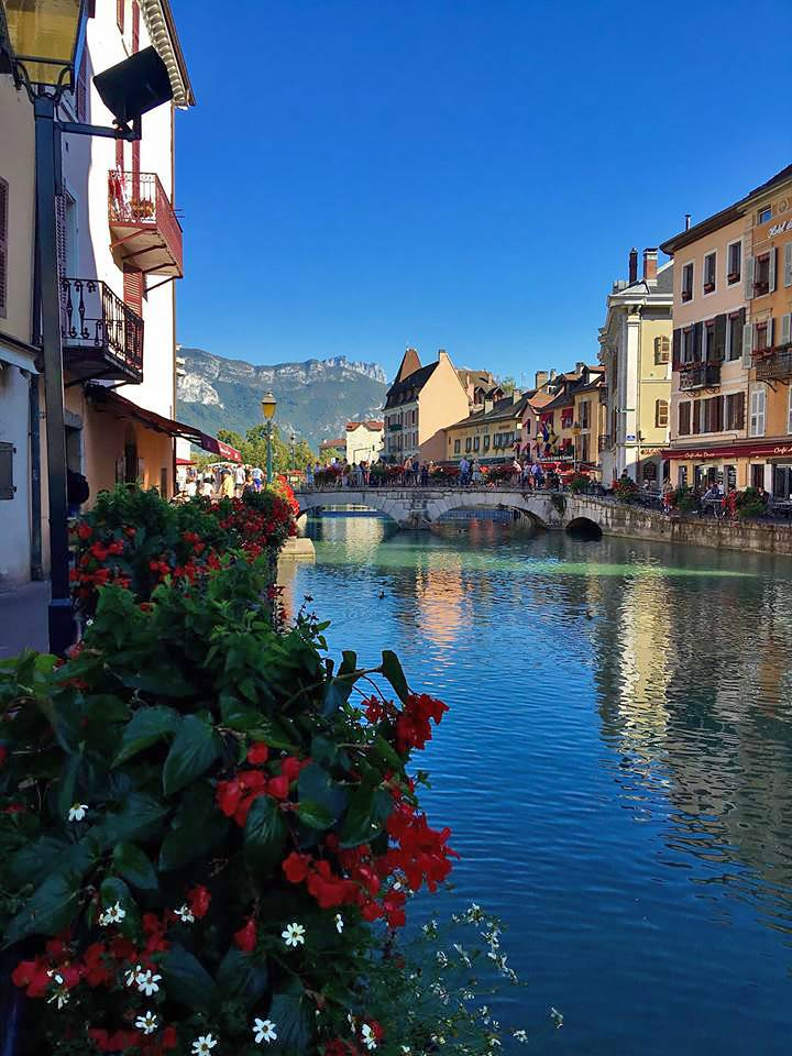 Scenery in Annecy, France