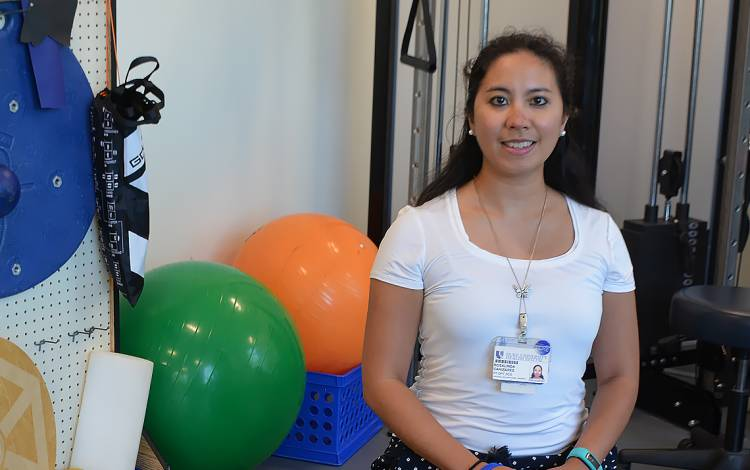 Rosie Canizares is a physical therapist in the Student Wellness Center.
