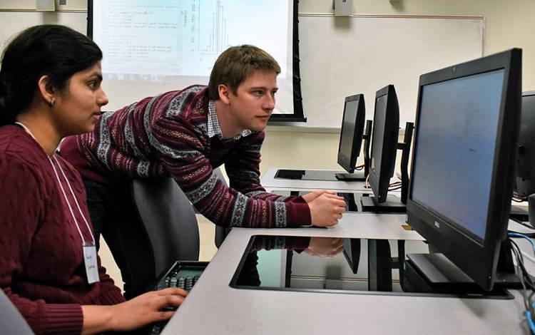 At the Statistical and Applied Mathematical Sciences Institute, experts from Duke University, North Carolina State University and the University of North Carolina can work alongside visiting scholars and students. Photo courtesy of SAMSI.