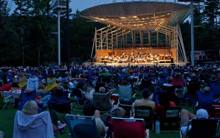 Summerfest is held at Koka Booth Amphitheater in Cary. Photo courtesy of the North Carolina Symphony.