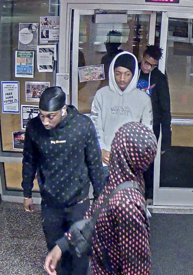 Suspects in theft from Gilbert-Addoms Dorm on Duke's East Campus.