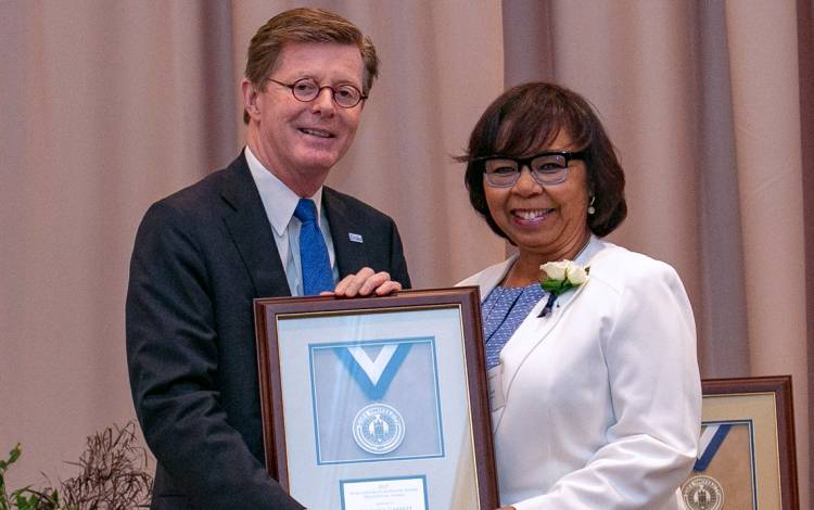 Network Services' Veronica Garrett earned a 2017 Duke University Presidential Award. Photo courtesy of University Communications.
