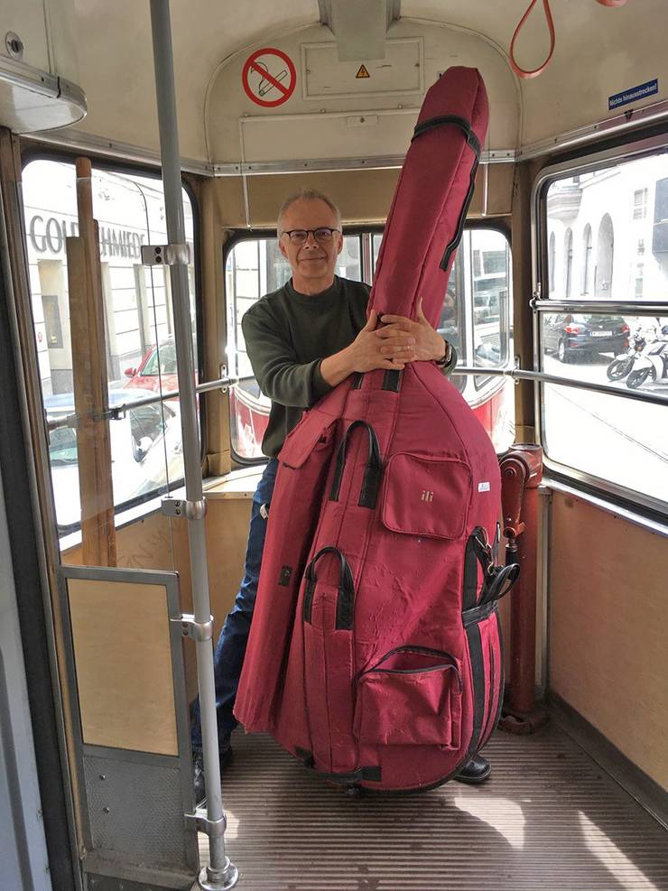Duke professor Mark Wiesner is spending the summer teaching a course, and indulging his hobby of playing the classical bass, in Vienna, Austria this summer. Photo courtesy of Mark Wiesner.