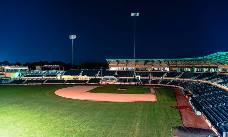 Durham Bulls Athletic Park. Photo by Kenneth Zeitler