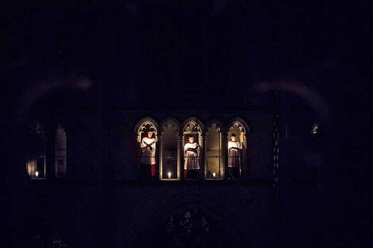 The All Hallow's Eve service at Duke Chapel will be lit by candles.