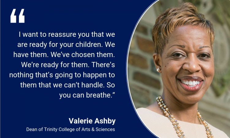 Valerie Ashby: I want to reassure you that we are ready for your children. We have them. We've chosen them. We're ready for them. There's nothing that's going to happen to them that we can't handle. So you can breathe