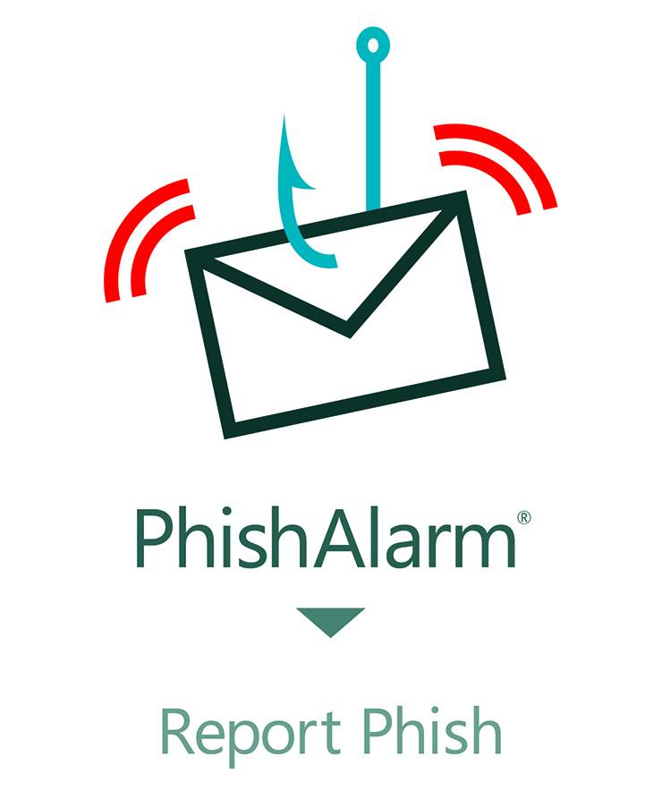 The Report Phish button.