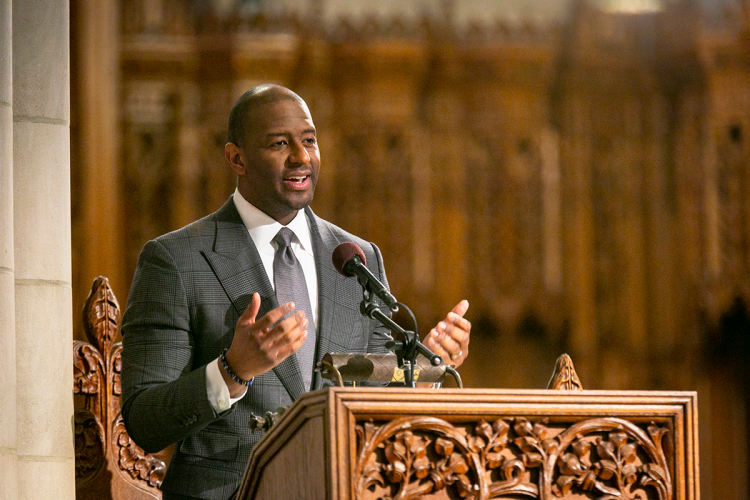 Andrew Gillum emphasizes the importance of voting rights in his MLK address.