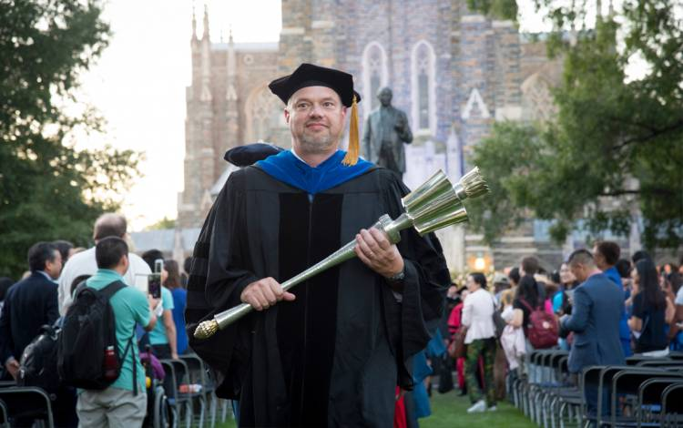 In October, 2017, Taylor carried the University Mace to the inauguration ceremony for Duke University President Vincent E. Price.