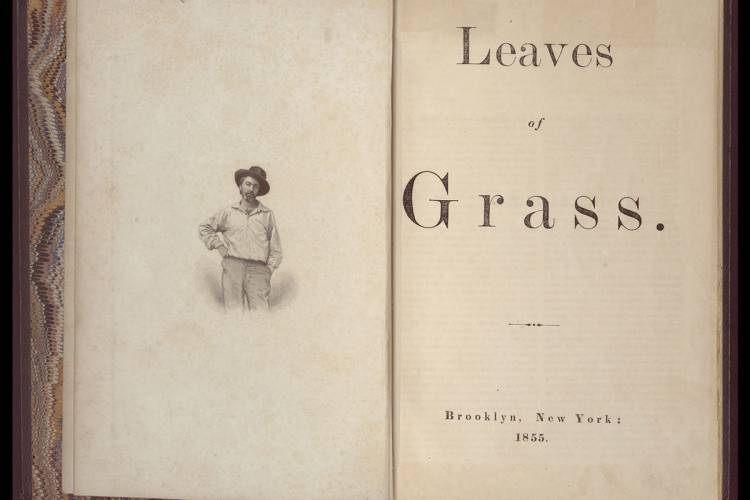 No author: The 1855 Leaves of Grass title page. From Duke Libraries