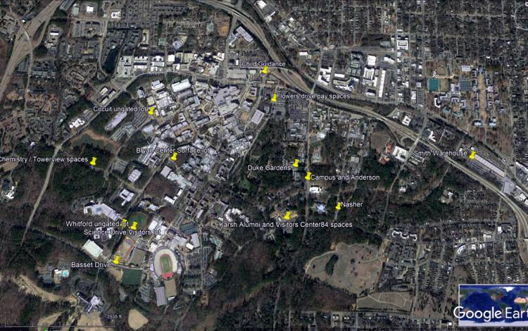 PayByPhone can be used in 12 parking lots across Duke, including Sarah P. Duke Gardens, the Bryan Center Pay Lot and Nasher Museum of Art.