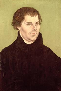 Martin Luther by Lucas Cranach der Ältere, painted in 1526