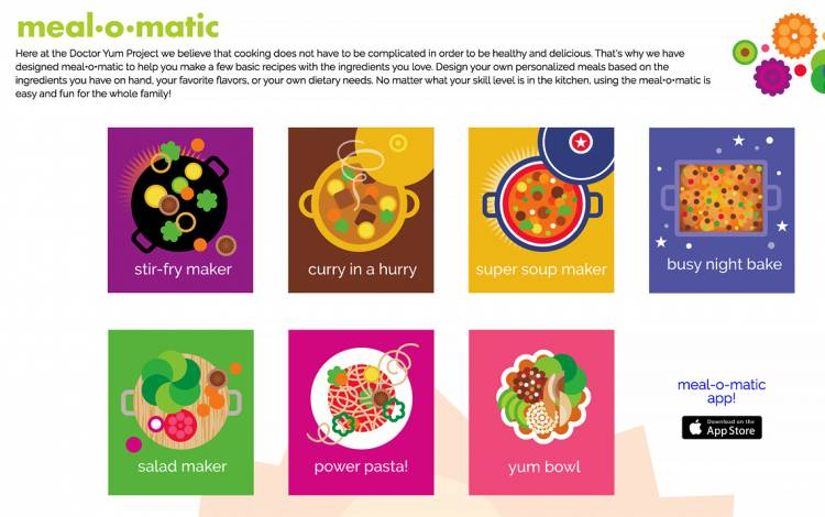 "The ""Meal-O-Matic"" helps you make basic recipes with kitchen staples. Photo courtesy of doctoryum.org"