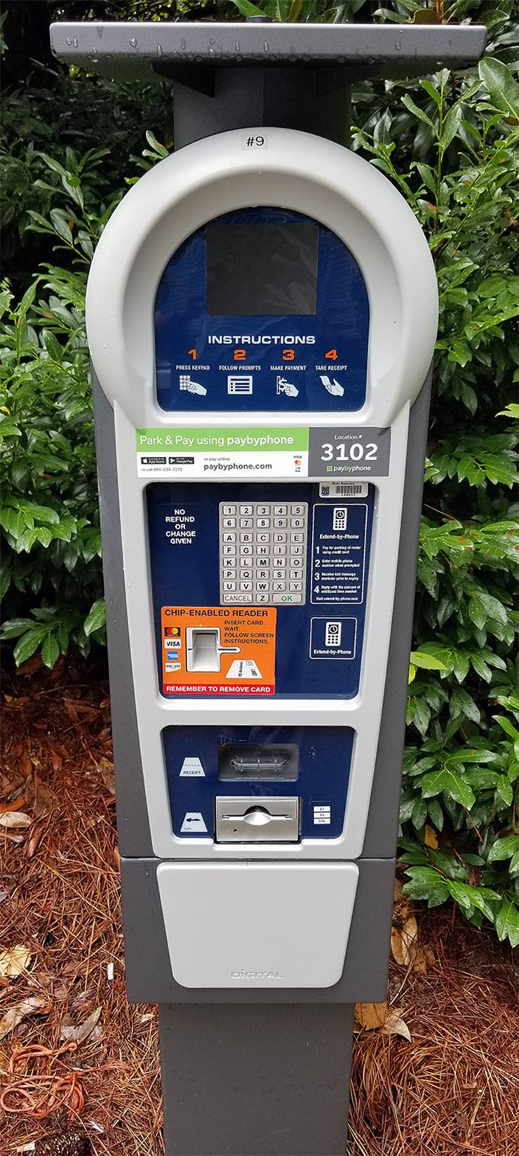 Each parking lot is assigned a designated number on meters that users enter on their phones to pay for parking.Each parking lot is assigned a designated number that users enter on their phones to pay for parking. The assigned number can be found on the pa