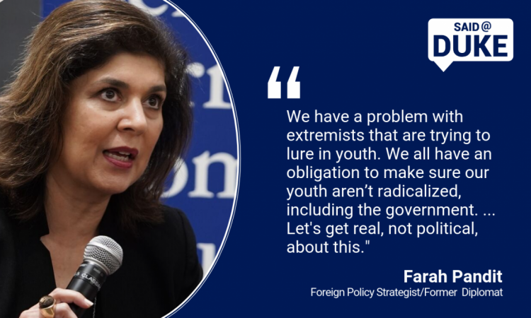 Farah Pandith: We have a problem with extremists trying to lure in our youth.