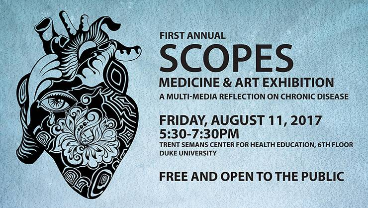Scopes, a student-led initiative committed to integrating the arts and humanities into medical education at Duke, is hosting a multimedia exhibit representing patient experiences.