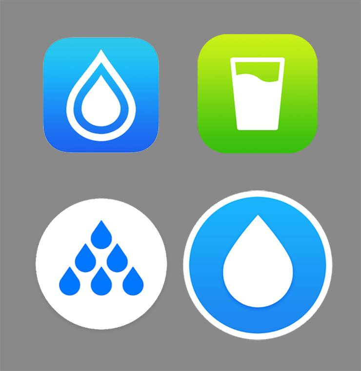 App logos for water drinking.