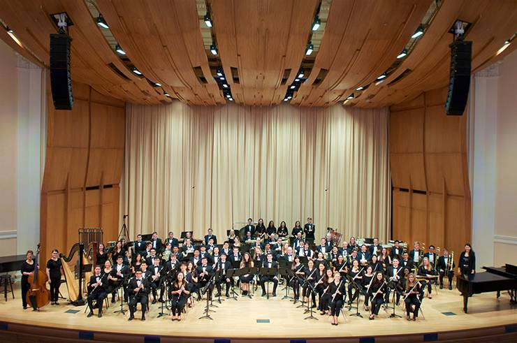 The Duke Wind Symphony.