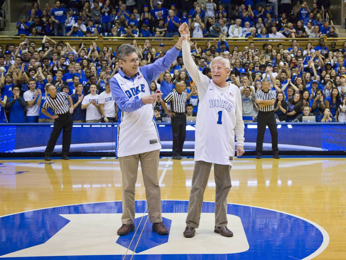 Countdown to Craziness and Blue vs White scrimmage.  2015 Nobel Prize in chemistry recipient, Paul Modrich, honored. 2012 Nobel laureate Robert Lefkowitz also present.