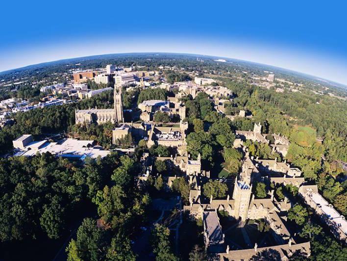 Duke University from above