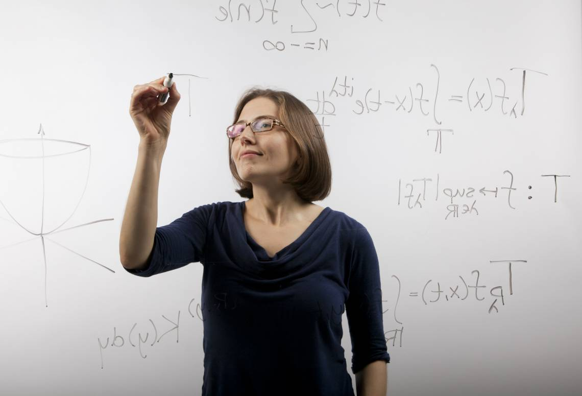 Duke assistant professor of mathematics Lillian Pierce has been awarded the 2018 AWM Sadosky Research Prize in Analysis for her outstanding contributions to harmonic analysis and analytic number theory. Photo by Duke Photography.