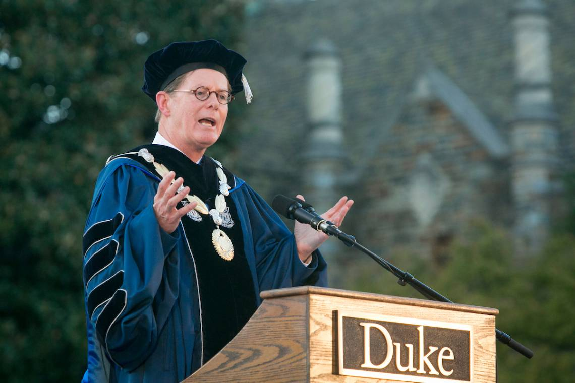Vince Price speaks at his inaugural ceremony Thursday. Photo by Duke Photography