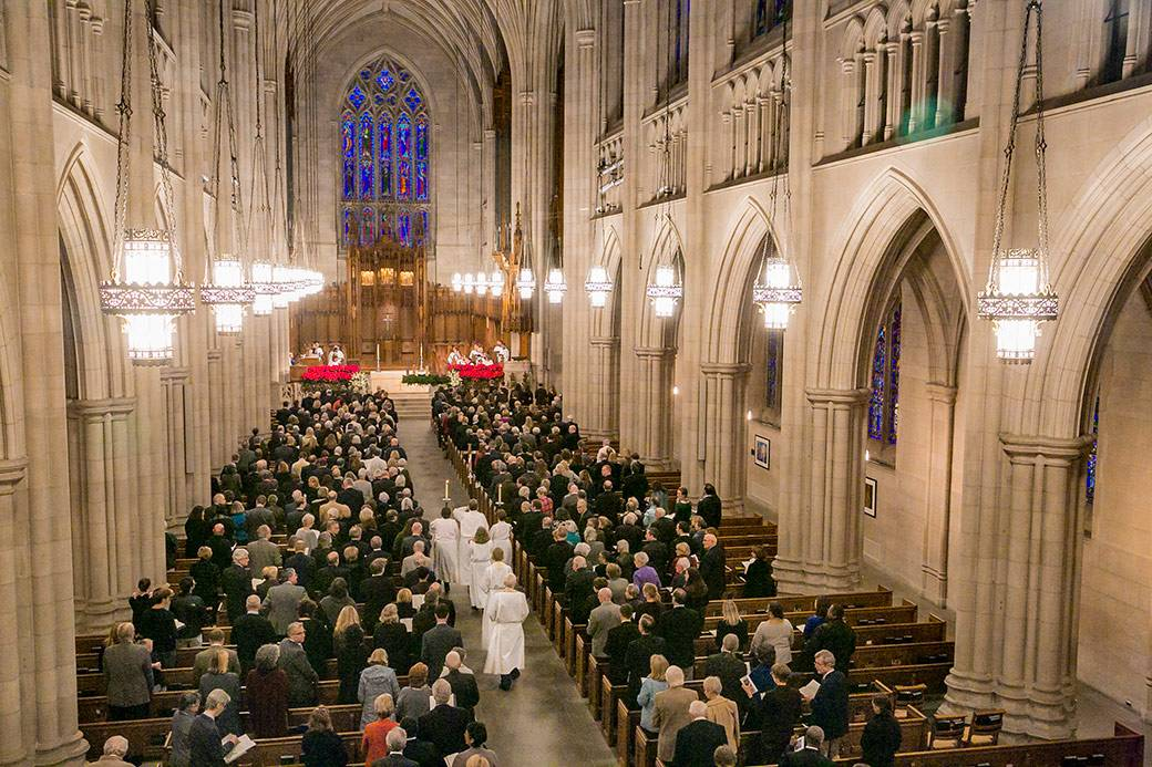 Duke and local community members filled Duke Chapel Monday to remember Dr. H. Keith H. Brodie, the seventh president of the university. Photo by Chris Hildreth/Duke Photography
