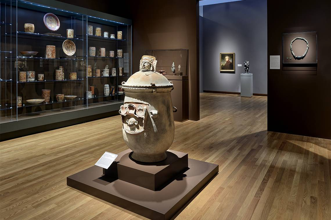 An installation of Peruvian and ancient Americas art at the Nasher Museum of Art. Photo by Peter Paul Geoffrion