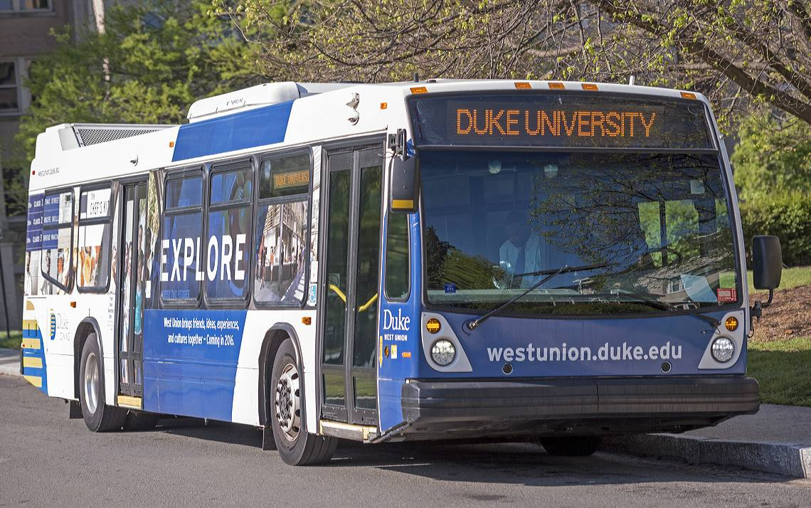 Duke buses will alter their schedule this week.