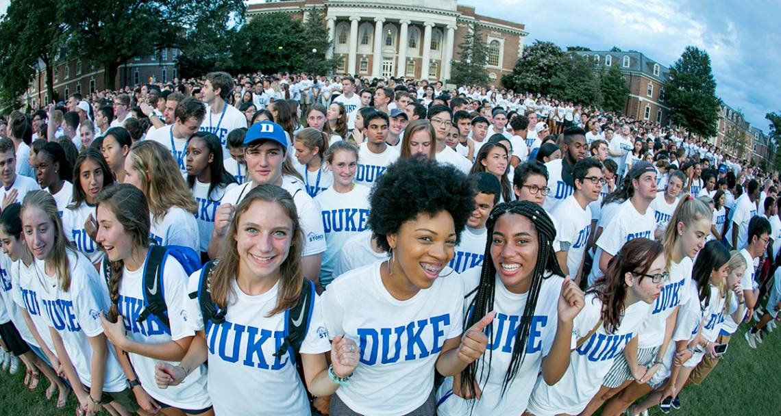 The Class of 2021 gathered for their class photo this past August. Who will be part of the Class of 2022? Photo by Duke Photography