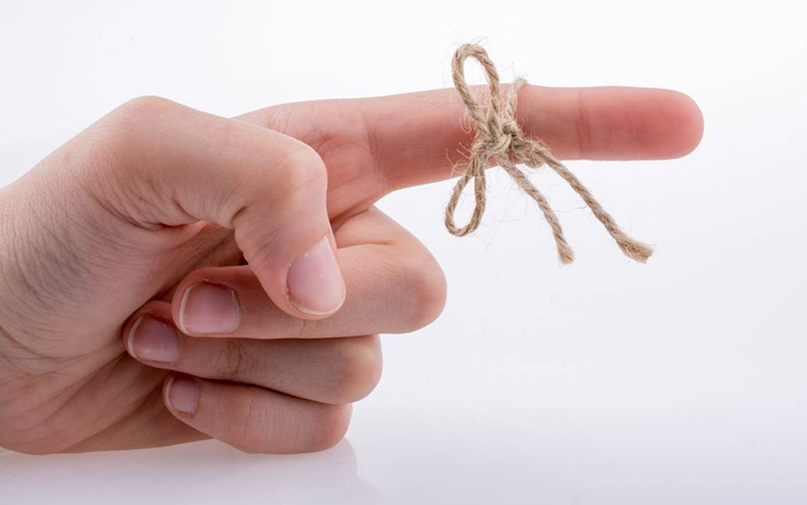 Image of finger with string.