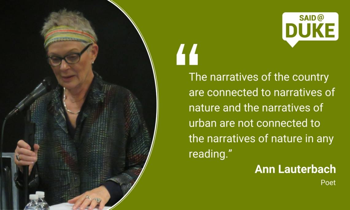 Ann Lauterbach: The narratives of Nature