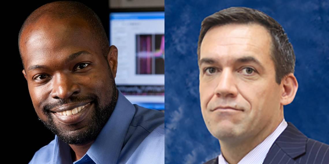 Kafui Dzirasa (left) MD, Ph.D., Stuart Cook, Ph.D.