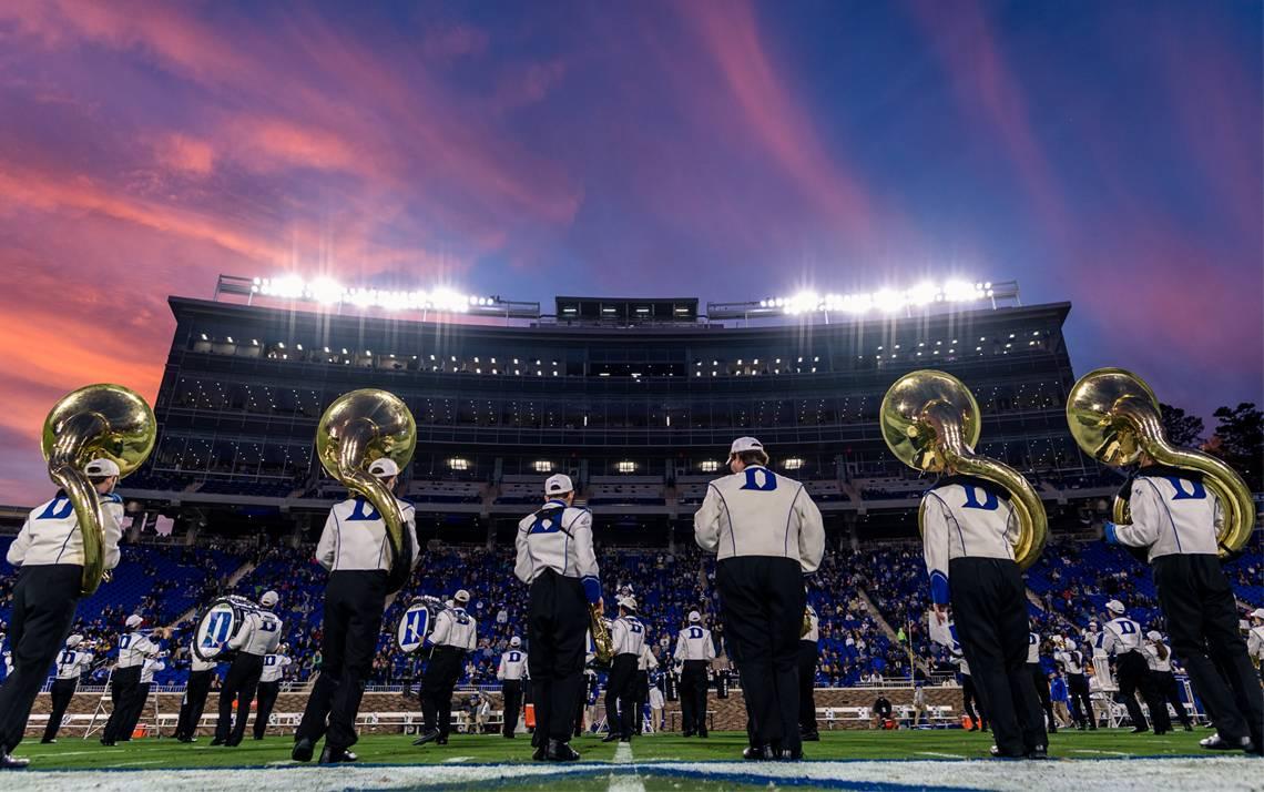 The 2019 Duke Football Employee Kickoff Celebration takes place Saturday evening at Brooks Field at Wallace Wade Stadium. Photo courtesy of Duke Athletics.