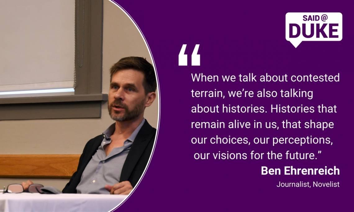 Ben Ehrenreich: