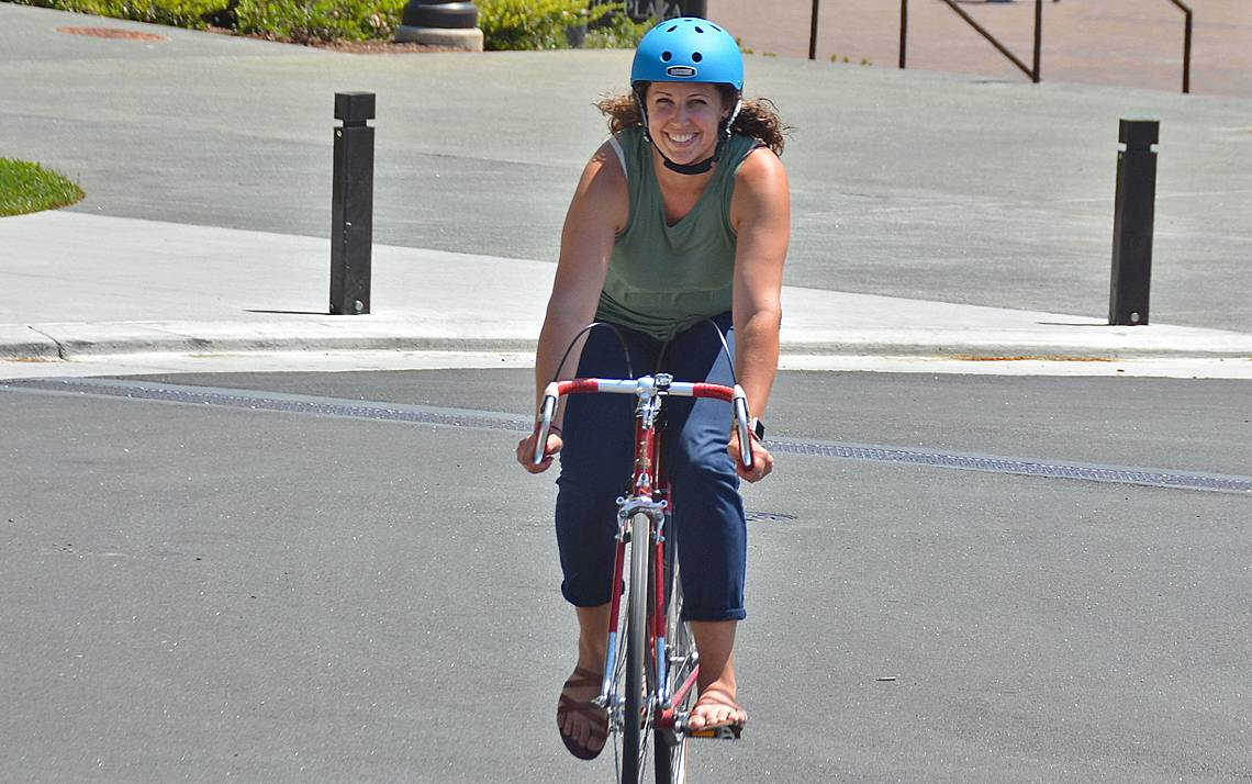 Claire M. Smith began biking to work in January.