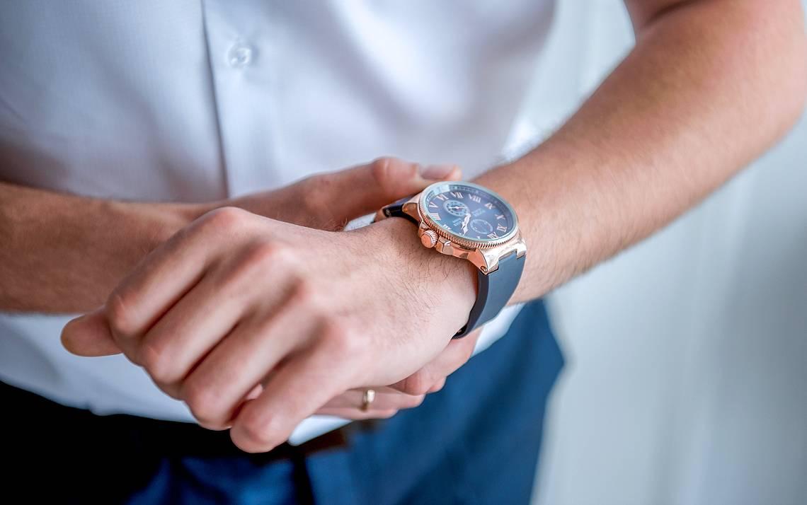 Man checking his watch.